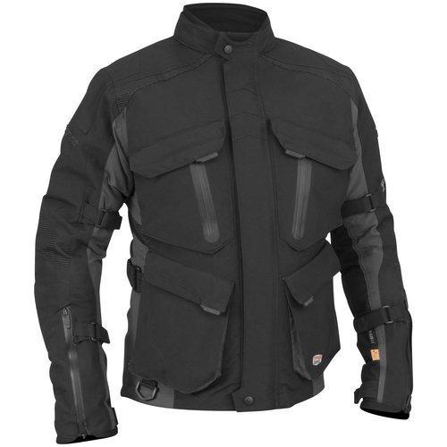 Stilvolle Motorradjacke textilien Motorrad Jacke Cordura Motorcycle Jacket, L, Black