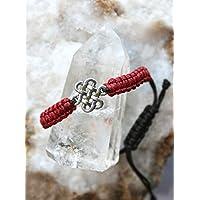 Pulsera roja con el símbolo celta del Nudo sin fin/Pulsera de protección/Amuleto/Talisman/Regalo protección/Regalo brazalete yoga