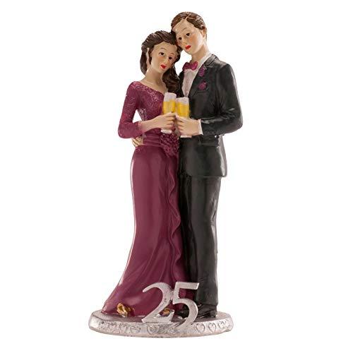 Dekora Topper Figur für 25-jähriges Jubiläum Resin Cake