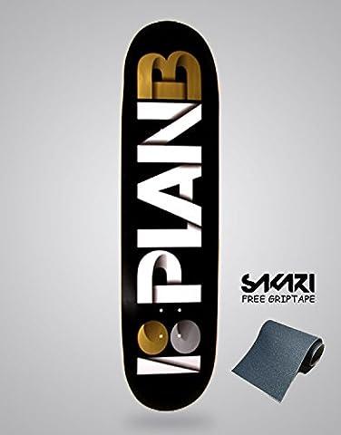 Monopatín skate skateboard PLAN B TEAM OVERLAP GOLD 8,75