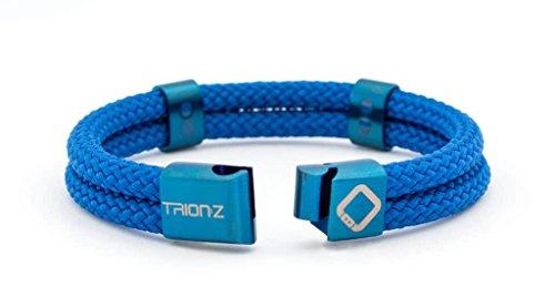 Trion:Z Zen Loop Duo Magnetisches Ionentherapie-Armband mit patentierter ANSPO-Tech für Gelenkschmerzen und Linderung Arthritis Karpaltunnel Knie Handgelenk und Sportschmerzen - Perfektes Geschenk