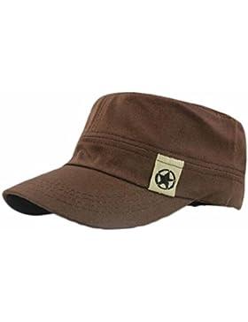 AIMEE7 Sombrero Militar De Techo Plano Cadete Patrulla Bush Sombrero Gorra De Campo De BéIsbol