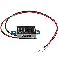 PhilMat 0.Voltmetro digitale 3 36 pollici - 30v calibro tensione LED tester di pannello 2 fili