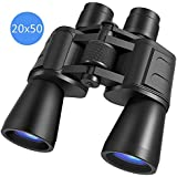 Oheligo FMC Day Vision Binoculars High Range Telescope 20x50 Powerful BAK4 Prism Lens with Strap Carrying Bag Black