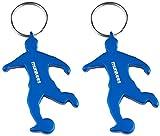 munkees 2 x Schlüsselanhänger Fußballer Flaschenöffner, Gadget Sport-Fans, Doppelpack Blau, 34906