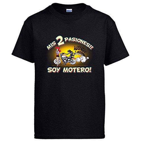 Camiseta mis dos pasiones mi moto y mi chica soy motero -...