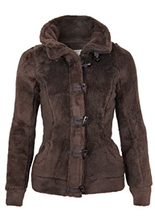 Fresh Made Teddy Veste polaire, Taille:XS;Couleur:Dark Brown
