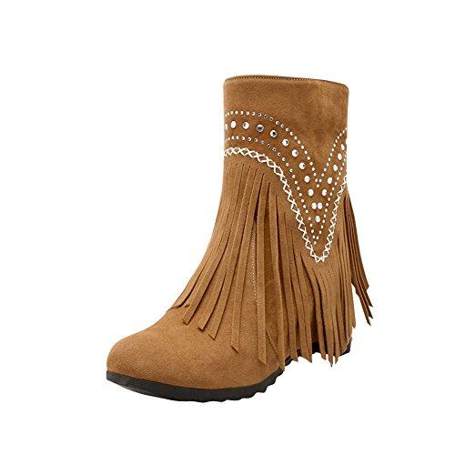 Mee Shoes Damen Strass Quaste hidden heel warm gefüttert Stiefel Gelb