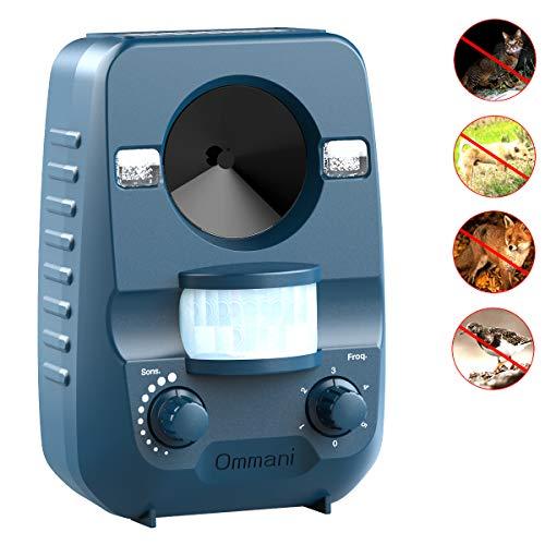 Ommani Katzenvertreiber Ultraschall zum Vertreiben von lästigen Tieren aus Ihrem Garten | Nagetiere, Maulwürfe, Katzen, Hunde, Vögel und andere