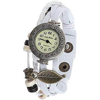 Alain Miller Damen Analog Quarz Uhr mit Leder Armband 1900134-001