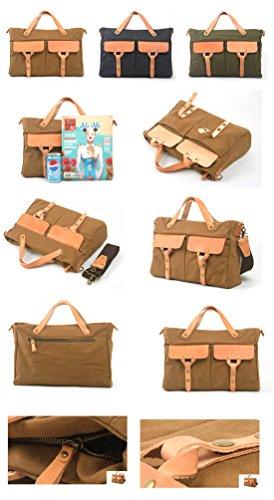 Outdoor peak Herren Jungend hochwertige Canvas Tasche Tagetasche Messenger Bag Vintage Retro Aktentasche Bürotasche Businesstasche Handtasche modische Tasche Grau
