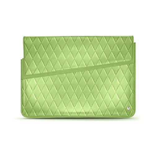 Notebook-Lederschutzhülle 11' - Griffe 1 - Perpétuelle Couture - Vert Olive - Couture - Couture Olive