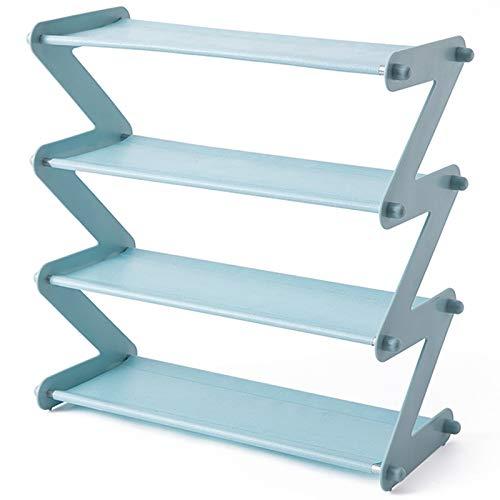 PKWEHKG Stahl Rack einfache Edelstahl montiert Schuh Rack sparen Platz Hausschuhe High Heels Home Dormitory Faltbare Multi-Layer-Lagerung -