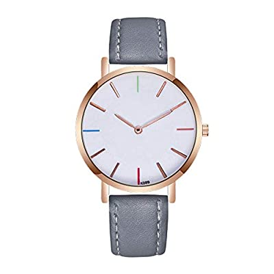 Mens Quartz Watch,Ulanda-EU 1PC Unique Analog Business Casual Fashion Wristwatch,Clearance Cheap Watches with Round Dial Alloy Case,Comfortable PU Leather Band la7 : everything five pounds (or less!)