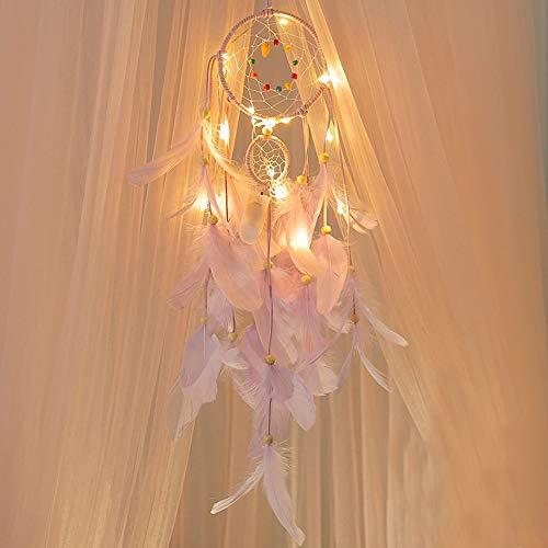 LEEDY - Atrapasueños Colgante de Plumas para Colgar Luces, decoración de Navidad Colgante de Bolas Decorativas Accesorios