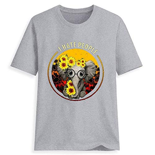 LILIGOD Sommer Damenmode T-Shirt Sunflower Graphic Tee Tops Herz Gedruckt Kurzarm T-Shirt Cotton Rundhalsausschnitt T-Shirt Lose Bequem T-Shirt Blouse Elegant Wild Oberteile Tops (Mini Sunflower Led-licht)