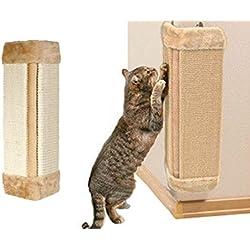 Poste rascador para colgar, rascador de esquina, rascador para gato, sisal natural, para mantener la salud de tu gato, protege los muebles y el papel pintado
