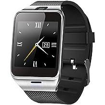 Gossip Boy Aplus Gv18Bluetooth 3.0NFC Smart reloj teléfono móvil impermeable reloj de pulsera para Android Samsung LG HTC Sony iPhone iOS (GSM/GPRS 850/900/1800/1900red y 30GB TF tarjeta en Máximo apoyo), color negro