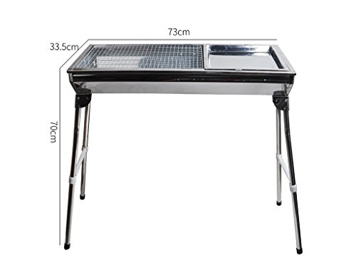 Barbecue Grill, Portable Barbecue Home BBQ Utensil Ausgestattet Mit Barbecue Tools - 73X33.5X70cm