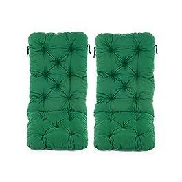 Ambient home Lot de 2 Coussins pour Fauteuil de jardin HANKO MAXI Vert 120 x 50 x 8 cm 90343