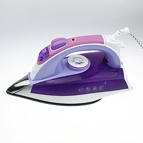 LT&NT Plancha de vapor Plancha de mano de hierro de vapor de hierro de cerámica (púrpura)