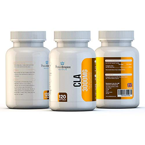 41ijKVv9wjL. SS500  - Protein Empire High Strength CLA Supplements | 3,000mg Per Serving, Stimulant & Caffeine Free Fat Metaboliser, Cellulite Reducing – 120 Softgels