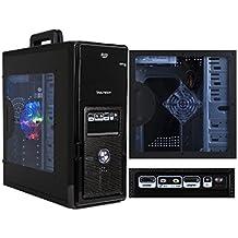 RGDIGITAL BLU EASY DUAL8GB - PC DESKTOP INTEL DUAL CORE 2,6GHZ WIFI CASE VULTECH GS-2681 TRASPARENTE CON VENTOLA LED BLU RAM 8GB RAM HD 1TB HDMI DVI VGA WIFI INCLUSO PC COMPLETO ASSEMBLATO PRONTO ALL'USO DVI/VGA/HDMI USB VELOCE COMPLETO ED ELEGANTE PER USO UFFICIO CASA AZIENDA INTERNET SOCIAL NETWORK