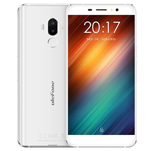 """Telephone Portable Debloqué, Ulefone S8 3G Smartphone Pas Cher avec écran HD de 5,3 """", MT6580 Quad Core 1.3Ghz, Android 7.0, Double SIM, 1 Go de RAM + ROM de 8 Go, 5MP + 13MP Double Caméra , 3000mAh - Blanc"""