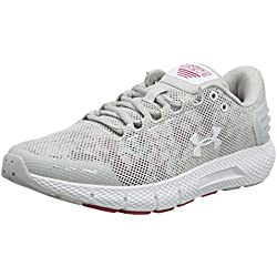 Under Armour Charged Rogue Amp, Zapatillas de Running para Mujer, Gris (Gray Flux/Impulse Pink/White 100), 38 EU