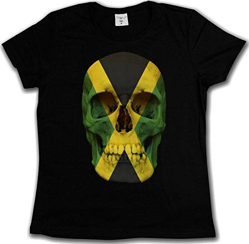 Jamaican Flag Shirt (JAMAICA JAMAICAN SKULL FLAG T-SHIRT - Totenkopf Jamaika Fahne Rasta Irie T-Shirt Größen S - 5XL (M))