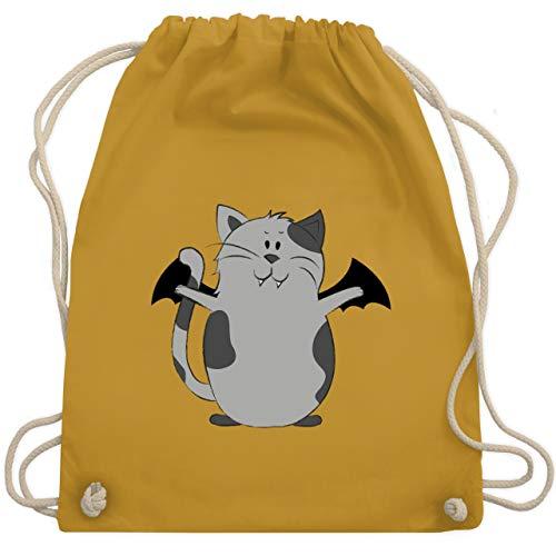 (Halloween - Katze Halloween - Unisize - Senfgelb - WM110 - Turnbeutel & Gym Bag)