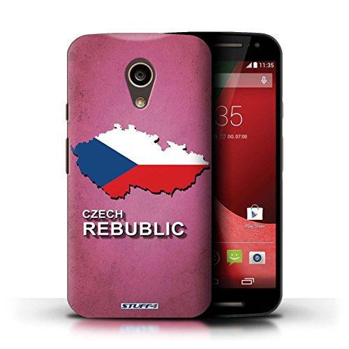 Kobalt® Imprimé Etui / Coque pour Motorola Moto G (2014) / Chine/Chinois conception / Série Drapeau Pays Tchèque/Czechian