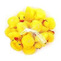20 Pcs/lot Baby Floating Squeaky Rubber Ducks Kids Bath Toys for Children Boys Girls Water Swimming Pool Fun Playing Toy