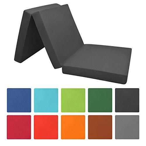 Beautissu Cómodo colchón plegable Campix - perfecto para horrar espacio - con funda de microfibra - diferentes tamaños y colores