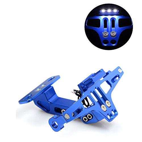 Universal Motorrad Hintere Kennzeichenhalter für Kawasaki Z650 Z750 Z800 Z1000 Z900 Z300 Z250 (Blau)