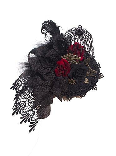 DEVIL SHACKLES Frauen Gothic Steampunk dekorative Muster Käfig Spitze Haarspange Headwear Haarband mit - Prinzessin Käfig