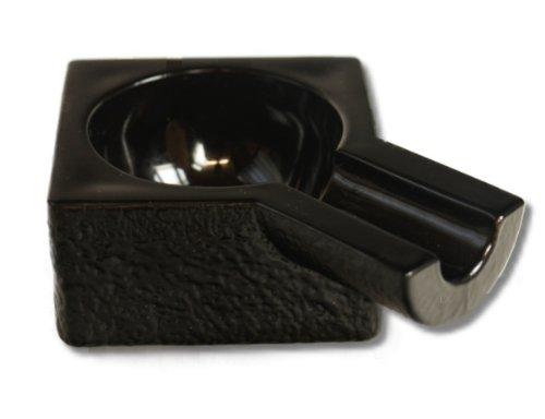 Portacenere per sigaro (singolo), Nero, con campione di degustazione Lifestyle-Ambiente
