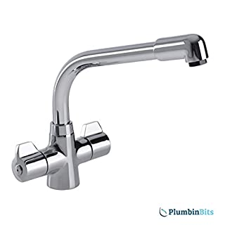 Leisure Aquadisc 2 Chrome Kitchen Sink Mixer Tap TAD2CM