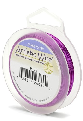 Artistic Wire Beadalon 914 Calibre 22 Prune