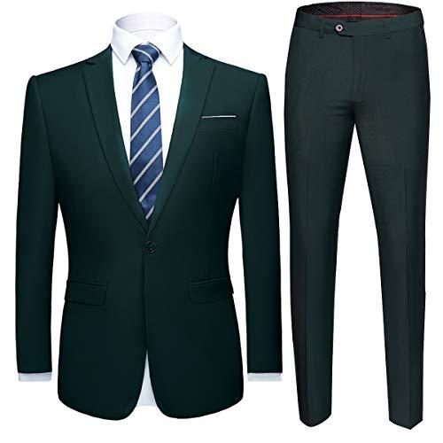 Allthemen Herren 2-Teilig Anzug Slim Fit für Hochzeit und Party
