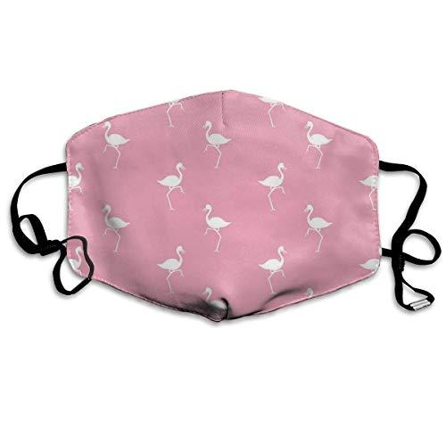 Preisvergleich Produktbild Mundmaske mit Ohrschlaufe,  Anti-Staub,  Anti-Flugbakterien,  Virus,  Smog,  Mundmuschel mit verstellbarem Gummiband,  winddicht,  rosa Flamingos Muster