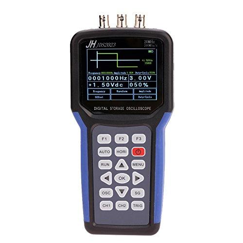KKmoon Display LCD Portatile Multifunzionale Digital Oscilloscope + Generatore di Segnale Ambito Portable Meter 20MHz (5 Mhz Generatore Di Funzioni)
