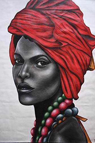 Kostüm Stammes Themen - CHUDU Malen Nach Zahlen Erwachsene Afrikanische Frauen-Stammes- Porträts-Realistisches Familien-Kostüm Auf Leinwand Kits Sammlung Klassische Kunst Modernes Geschenk