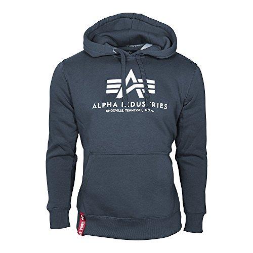 Alpha Industries Hoody Basic, Größe:3XL, Farbe:navy (Hoody Pullover Navy Sweatshirt Blauer)