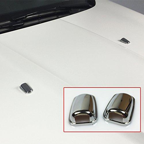 Chrom-Scheibenwischerkopf für die Windschutzscheibe, Scheibenwischer, Wasserstrahl, Abdeckung für Focus MK3, Mondeo, MK4, C-Max, MK2, Fiesta MK6, Auto-Styling