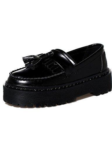 ZQ gyht Scarpe Donna-Sneakers alla moda-Casual-Chiusa / Creepers / Punta arrotondata-Plateau-Finta pelle-Nero , black-us8 / eu39 / uk6 / cn39 , black-us8 / eu39 / uk6 / cn39 black-us8 / eu39 / uk6 / cn39