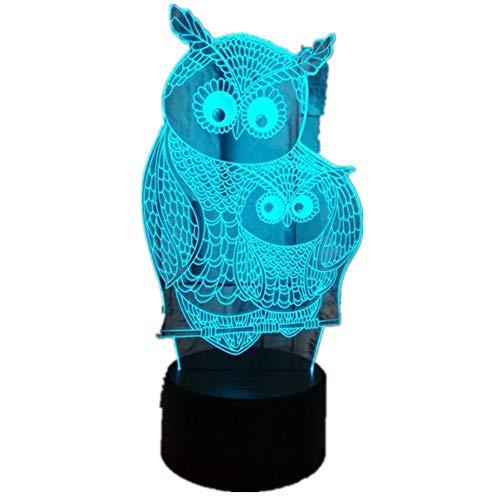 Wangzj 3d lampe illusion led nachtlicht/usb atmosphäre tischlampe/kinder baby kinder geschenk/eule -
