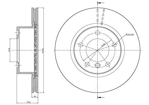 metelligroup 23-0811C - Disque de Frein Recouvert