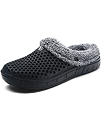Invierno Al Aire Libre Slipper zapatos calientes Zuecos Mujer Hombres Casa Zapatos