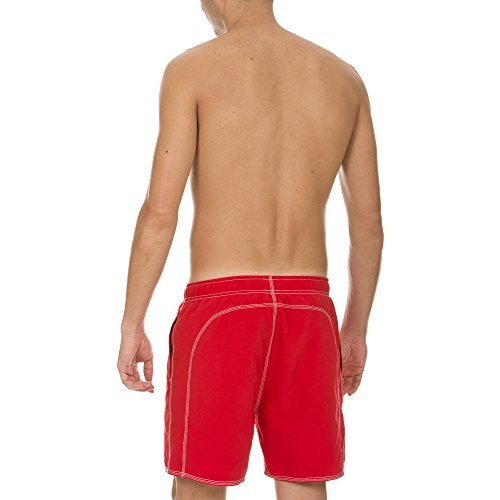 Arena Herren Badeshort Fundamentals Solid Boxer Red/White